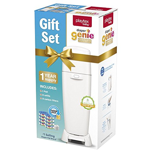 Playtex Diaper Genie Baby Registry Gift Set with 1 Diaper Genie Complete Diaper Pail, 8 Diaper Genie Refills and 8 Diaper Genie Carbon Filters for Odor Control by Playtex (Image #7)