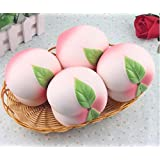 Teanfa New Colossal 10CM Squishy Pink/White Peach Slow Rising Cream Scented (Color Random)