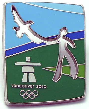(aminco 2010 Vancouver Olympic Eagle Pin)