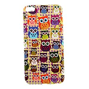 QJM Many Owls Pattern Smooth Surface TPU Soft Back Cover for iPhone 6 Plus