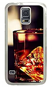 E-luckiycase PC Hard Shell Whiskey Glass Rocks Transparent Edges Skin for Samsung Galaxy S5 Case
