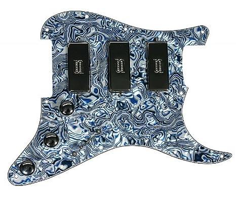 920d Custom Shop Duncan SM-3 Mini pastilla Humbucker para guitarra eléctrica Strat Golpeador azul carcasa/cromo: Amazon.es: Instrumentos musicales