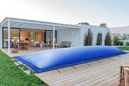 Lona de Piscina (Calidad Profesional), Rectangular, Hinchable, Cubierta de Lona para Camiones (8 m x 4 m, Verde): Amazon.es: Jardín