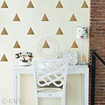 Triangles 4x4 Set of 51 wall pattern vinyl decal stickers (Gold)