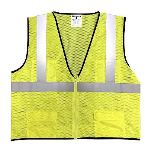 Safety Main Economy High Visibility All Mesh Vest, -