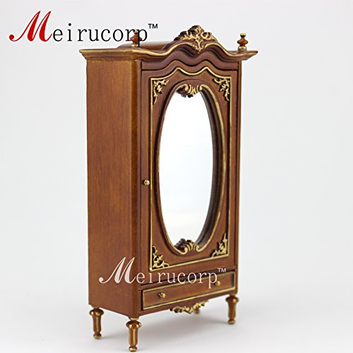 dollhouse Hand carved wardrobe 1/12 scale miniature furniture by Meirucorp