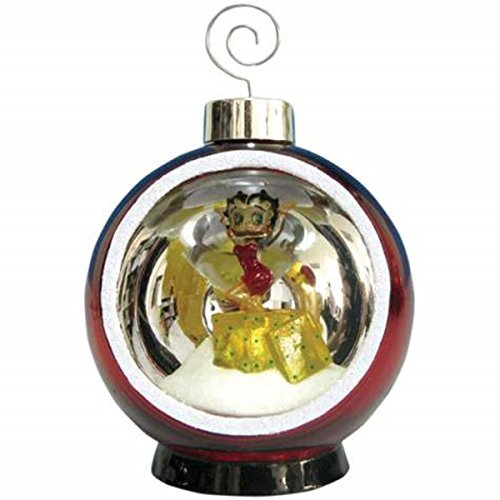 4 Inch Lighted Holiday Christmas Ornament with Betty Boop Presents Betty Boop Christmas Ornament