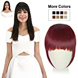 hair dryer red color - REECHO Fashion One Piece Clip in Hair Bangs / Fringe / Hair Extensions Color: Wine Red