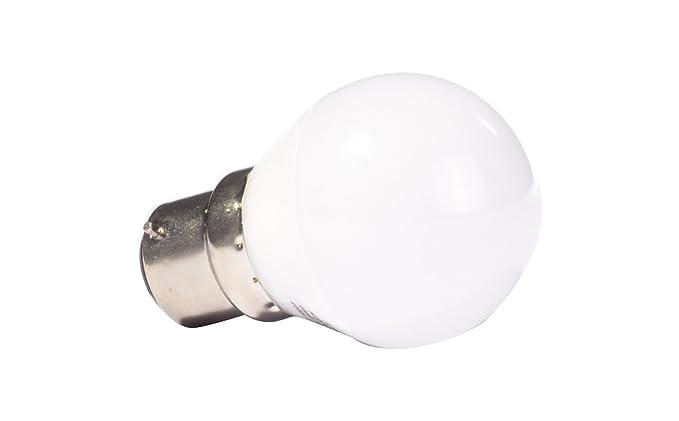 Liteway 5 W BC B22 pelota de golf bombilla LED, 40 W de repuesto tradicional