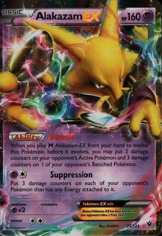 Alakazam Pokemon Card - Pokemon - Alakazam-EX (25/124) - XY Fates Collide - Holo