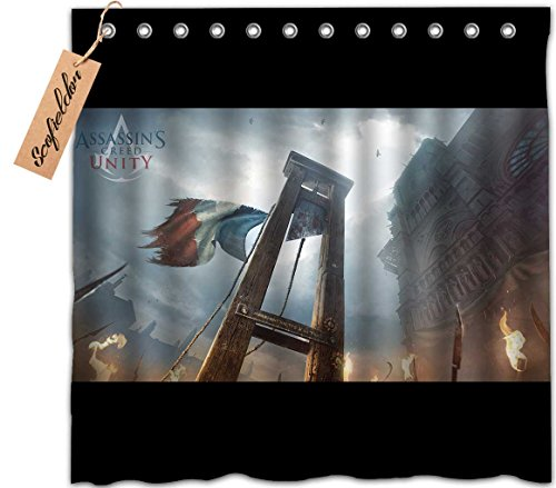 [iPrint Brand Personalized Customization Fashion Waterproof Polyester Fabric Custom Shower Curtain,Assassin's Creed] (Assassins Creed Unity Costume Customization)