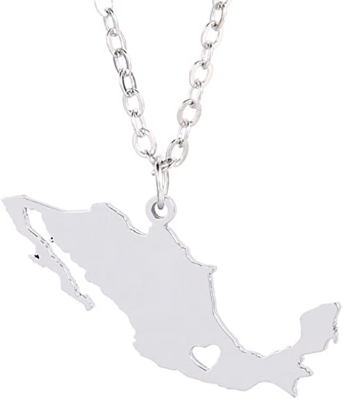 Mexico Map Necklace  Mexico Pendant  Mexican Necklace Mexican Gift  Mexico Outline  Mexican Souvenir  Mexican Jewelry Mexico Jewelry