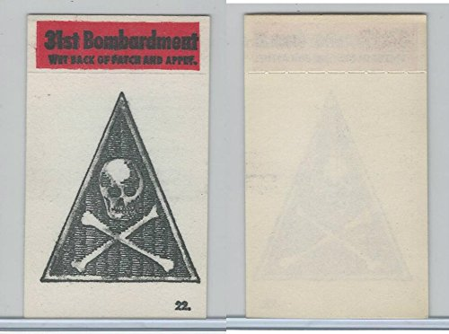 1965 Topps, Battle Cloth Emblem Patch, 22 31st Bombardment