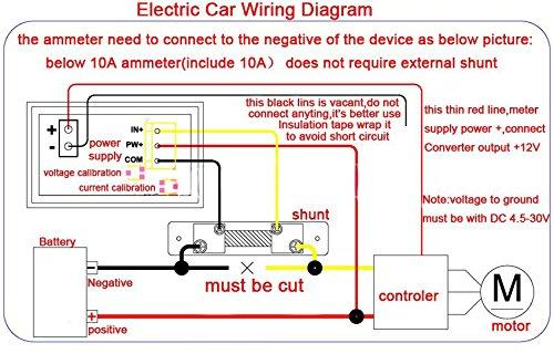 Aihasd 0.28 100V 5A DC Num/¨/¦rique voltm/¨/¨tre amp/¨/¨rem/¨/¨tre Strom Spannungsmessung LED Dual Display amp/¨/¨rem/¨/¨tre Volt Amp Panel Meter Rot + Blau; 5A