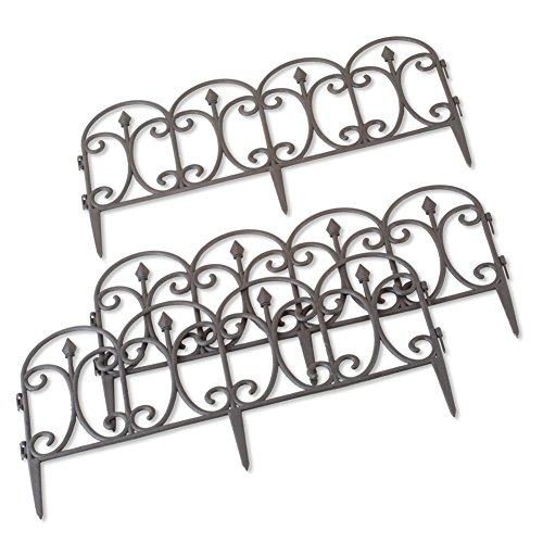 Collections Etc Faux Wrought Iron Scroll Garden Borders Plas
