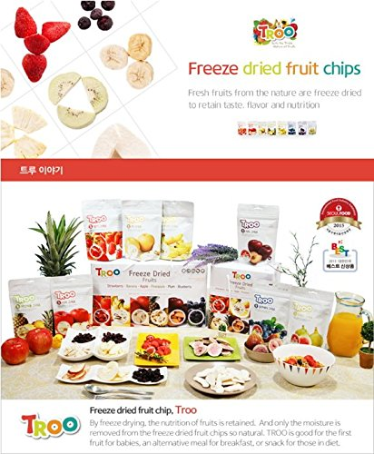 Freeze Dried Pear Chips(21 gr/pack x 5 packs) by Troo (Image #3)