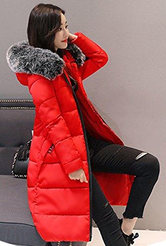 Winter Thick Slimming Red Down Jacket Parka Long Bigood Coat Women Ladies 0wpggx