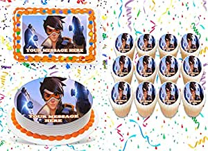 Overwatch Cake Topper Edible Image Personalized Cupcakes ...