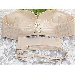 Sinfu Sexy Fashion Underwear Women Pull Rope Seamless Push Up Invisible Bra (Size:XL, Khaki)