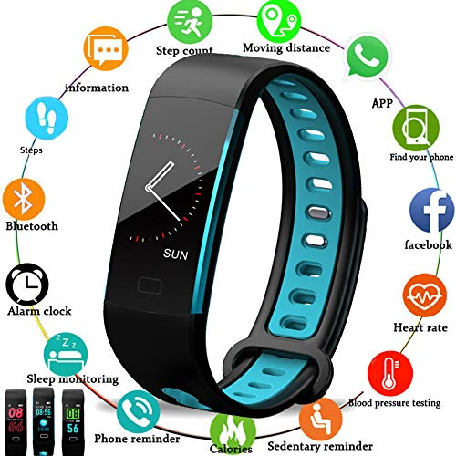 LIGE Fitness Tracker,Color Screen Smart Watch Bracelet,Waterproof Activity Tracker Men Women Black Sport Pedometer Fitness Watch with Heart Rate Monitor Sleep Monitoring for Android and iOS