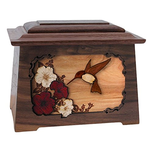 Wood Cremation Urn - Walnut Hummingbird Astoria (Wood Hummingbird)