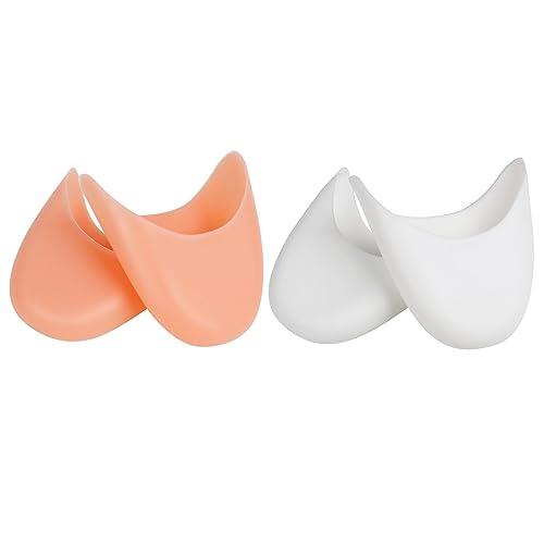 Andux 2 Pares Zapatos de Ballet Almohadilla de Silicona Almohadillas Zapatos Punta Dedo Protector GJJZT-01: Amazon.es: Zapatos y complementos