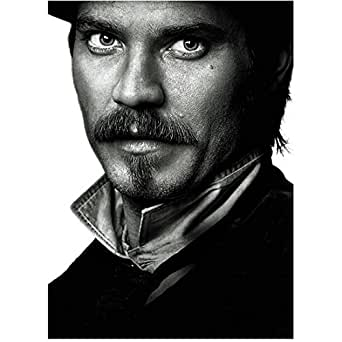 Deadwood Timothy Olyphant as Seth Bullock black and white headshot 8 x 10 Inch photo