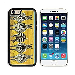 Cute Black and White Zebras Stripes Prairie Yellow Grass Land Blue Sky View Punktail's Collections iPhone 6 Cover Premium Aluminium Design TPU Case Open Ports Customized Made to Order wangjiang maoyi