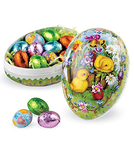 Amazon Old Fashioned Papier Mache Candy Filled Decoupage Egg Chick In Easter Grocery Gourmet Food
