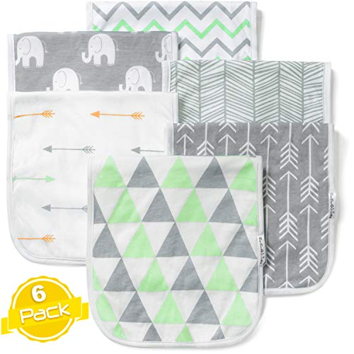 Boy Rag - Baby Burp Cloths Set (6 Pack), Super Soft Cotton, Large 21