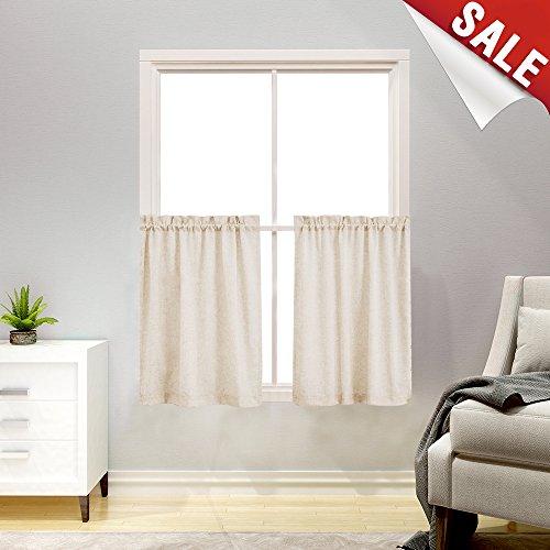Linen Textured Kitchen Curtains 36
