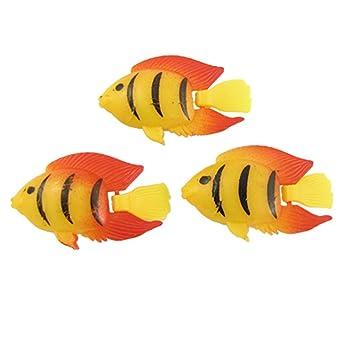 Black Striped Orange Fins Aquarium Fish Detail Set Of 3 Amazon Co