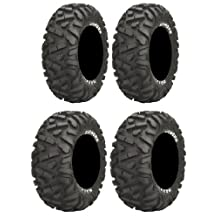 Full set of Maxxis BigHorn Radial 26x9-14 and 26x11-14 ATV Tires (4) by Powersports Bundle