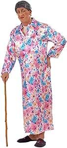 Widman - Disfraz de vieja para hombre, talla M (55992)