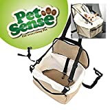 Petsense Dog Cat Puppy Pet Car Booster Seat Travel Carrier Bag Cage Blanket Faux Sheepskin Lining Chair with Front Zippered