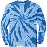 Koloa Surf Co.(tm) Colorful Long Sleeve Tie-Dye T-Shirt,4XL-Royal