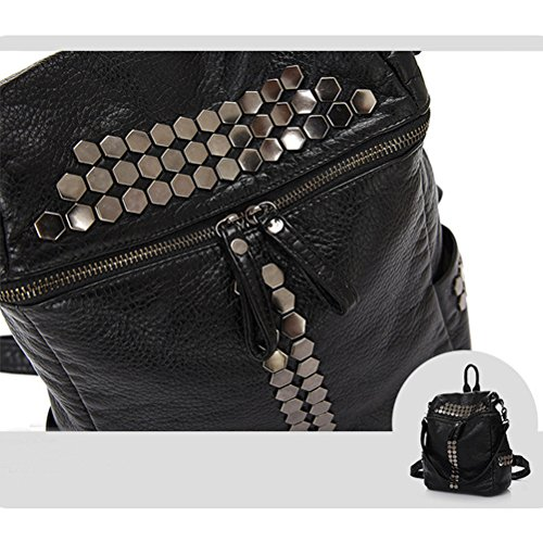 Honeymall Mochila de a diario, negro (negro) - backpack96 negro
