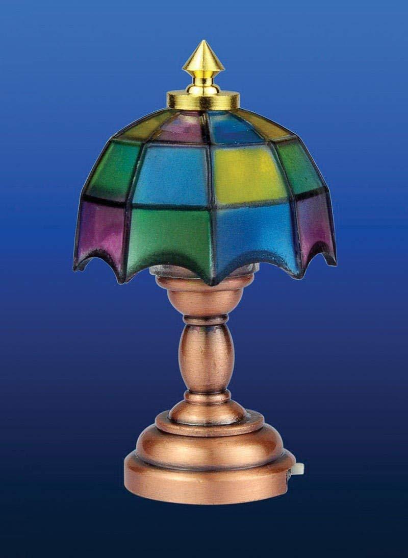 Funciona con pilas lámpara de mesa de Tiffany: Amazon.es ...