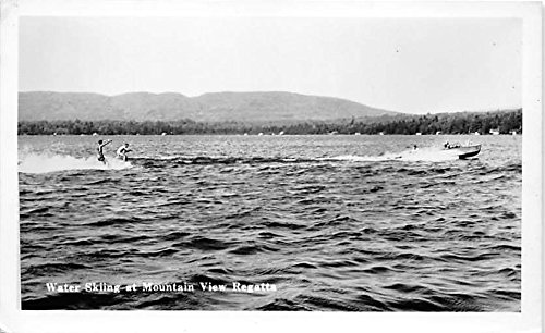 View Old Real Photo - Water Skiing at Mountain View Regatta Real Photo Old Vintage Postcard Post Card
