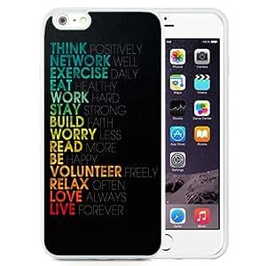 NEW Unique Custom Designed iPhone 6 Plus 5.5 Inch Phone Case With Words Of Wisdom_White Phone Case