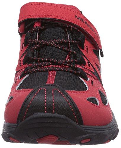 Merrell GRASSBOW A/C - Zapatillas de senderismo Unisex bebé Mehrfarbig (RED/BLACK)