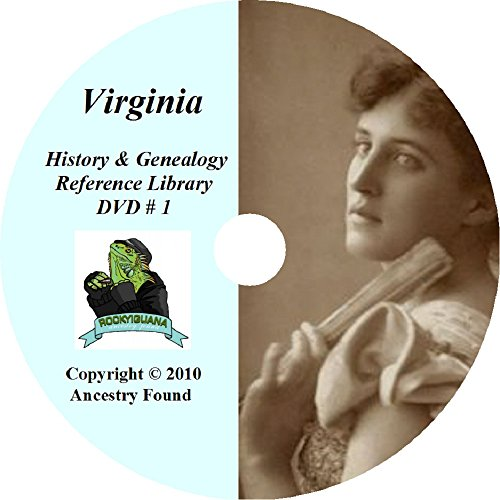 Virginia History & Genealogy on DVD - 225 books - Ancestry, Records, Family