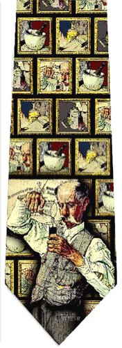 Museum Artifacts Norman Rockwell The Pharmacist Silk Tie