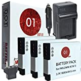 3x DOT-01 Brand 1800 mAh Replacement Panasonic DMW-BCM13 Batteries and Charger for Panasonic Lumix DMC-ZS40, DMC-ZS35, DMC-TS5, DMC-ZS30, DMC-FT5, DMC-TS6, DMC-ZS45, DMC-ZS50 Digital Camera and Panasonic BCM13