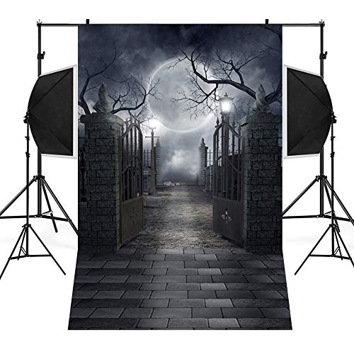 Halloween Photography Background,Lovewe Halloween Backdrops Pumpkin Vinyl 3x5FT Lantern Background Photography Studio]()