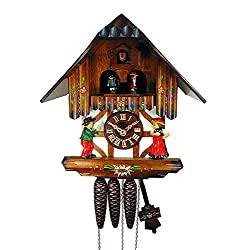 Original German Cuckoo/coo-coo Clock (Certified), Mechanical 1-Day Movement with Music, Dancing Figurines, Timber-Framed House/Chalet, from The Black-Forest, Germany