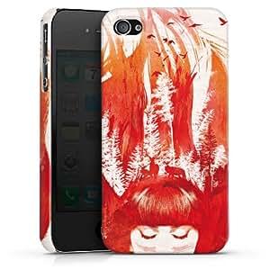 Carcasa Design Funda para Apple iPhone 4 / 4S PremiumCase white - strange story