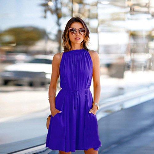 casual XL TAOtTAO da donna Beach maniche vestito Party donne estate senza vestito sera q77avwO