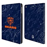 Official NFL Coloured Marble 2018/19 Chicago Bears Leather Book Wallet Case Cover for iPad Air (2013)