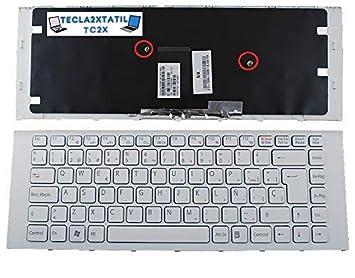 Teclado ESPAÑOL para PORTATIL Sony VAIO 148792641 Blanco con Marco Blanco: Amazon.es: Electrónica